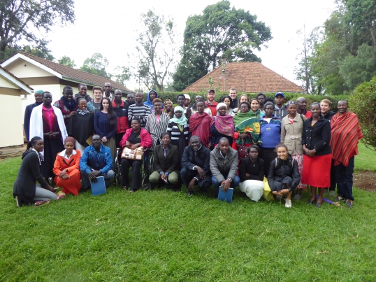 Nathan helps local businesses to grow in Kenya