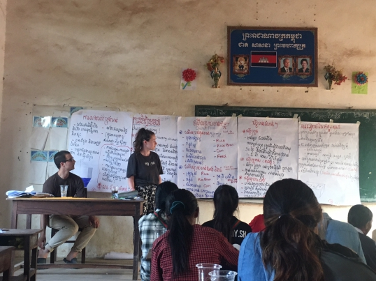 Alice volunteered as a team leader for a sustainability project in Cambodia