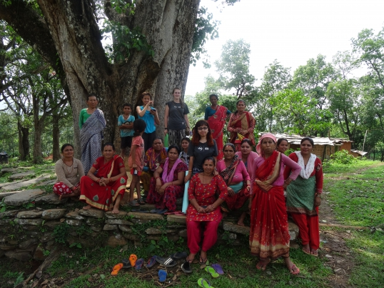 Volunteer educates Nepalese women on the warning signs of breast cancer