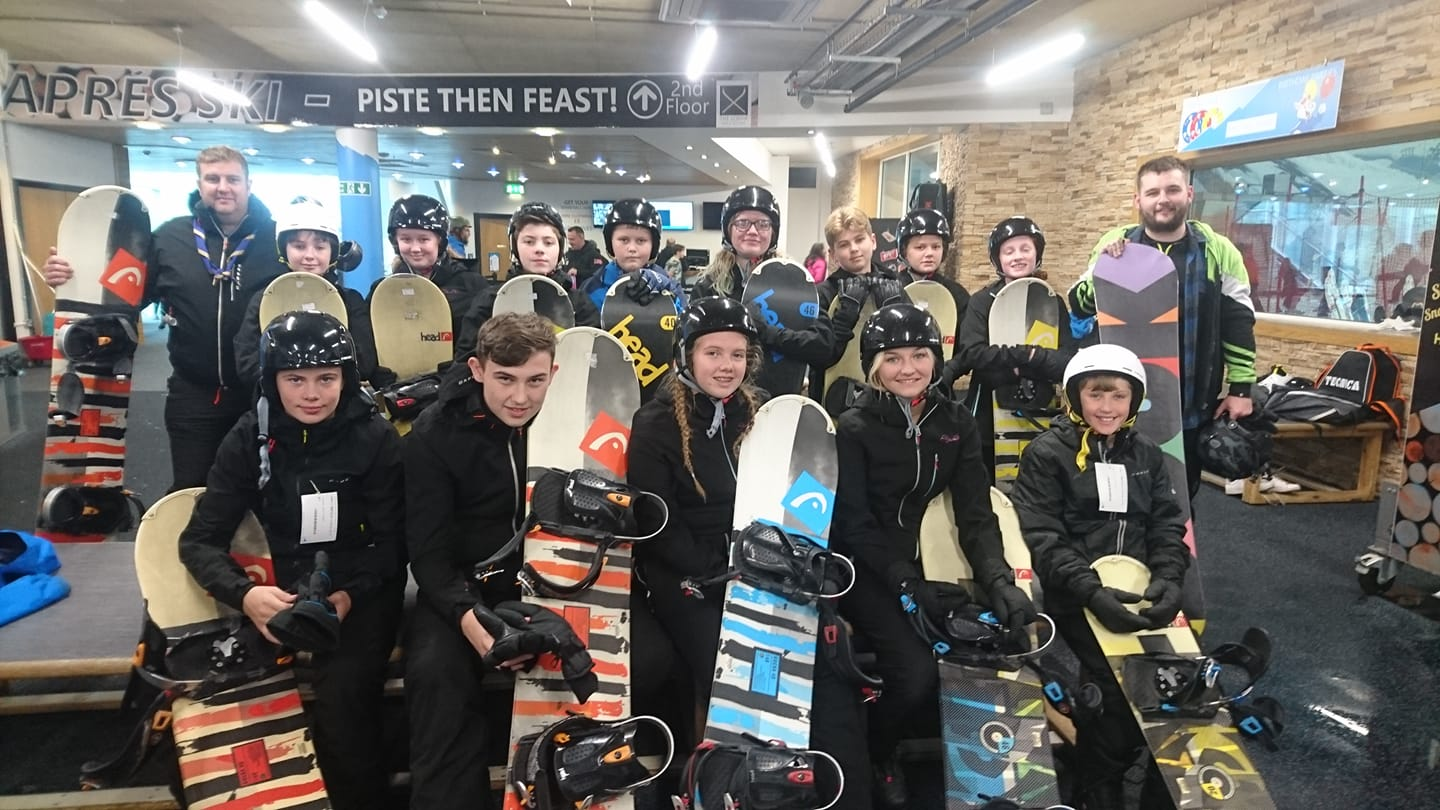 Scouts go snowboarding!