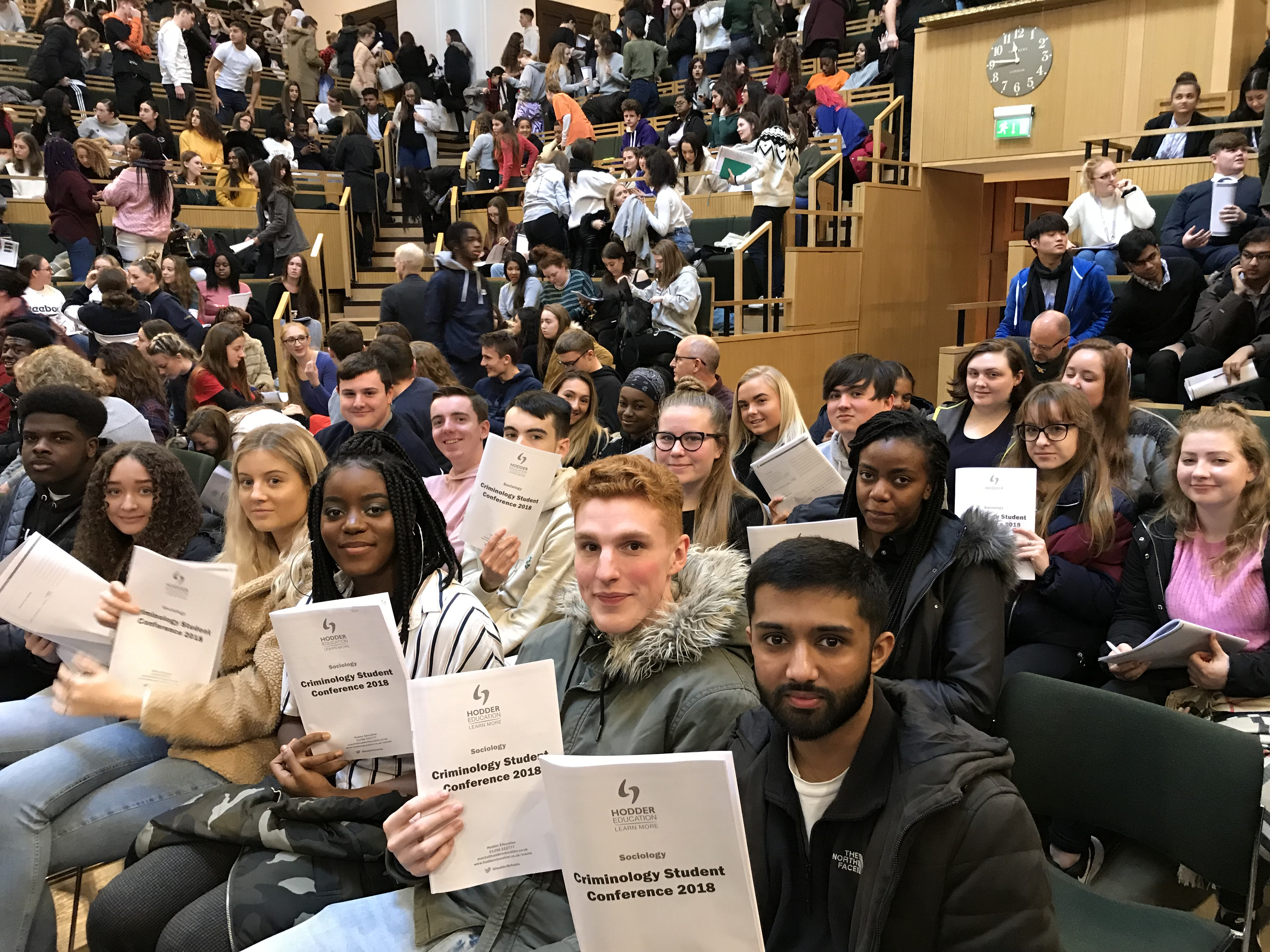 A-Level students attend Criminology Conference with Educational Visit Grant