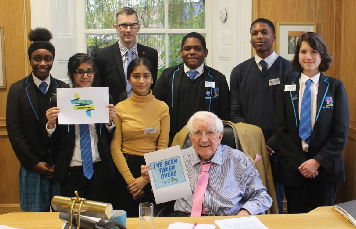 Petchey Academy students take over the Jack Petchey Foundation for a day!