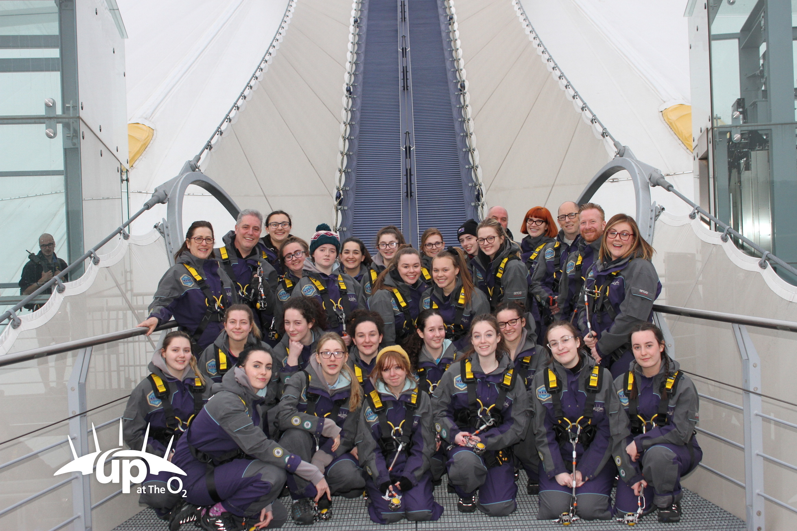 Guides climbed to the top of the O2!