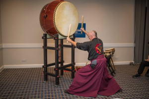 A demo of taiko drums