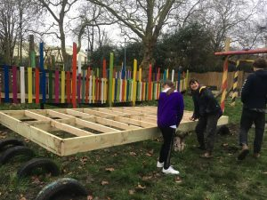 Work in progress: young people help to build the seesaw