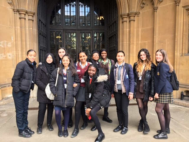 Speak Out alumni have guided tour of Houses of Parliament with MP