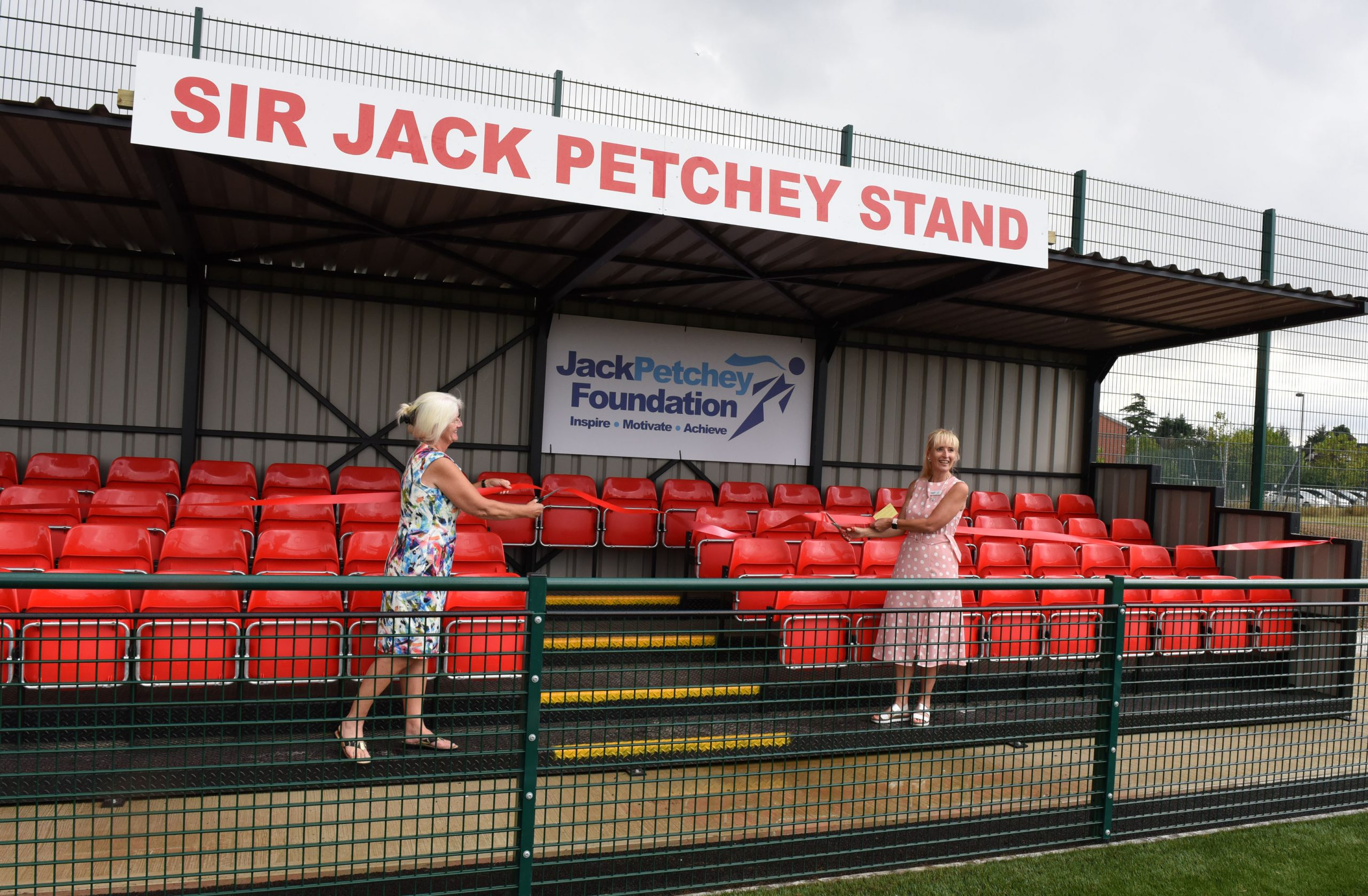 Sir Jack Petchey stand opened at Frenford Club's new football pitch