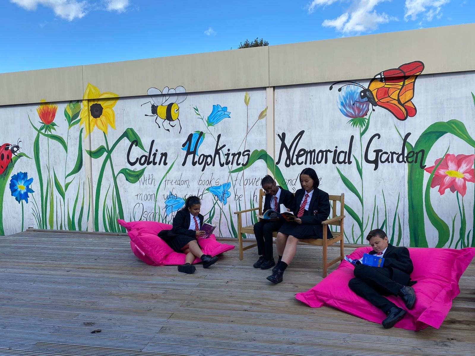 Reading Garden Built in Teacher's Memory using Leader Award Grant