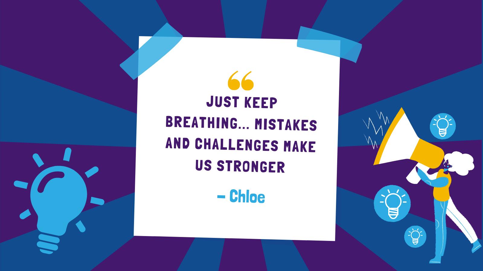 Chloe on overcoming adversity!